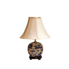 "Cantonese Pagoda 21"" H Table Lamp with Bell Shade"
