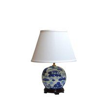 "Cantonese 21"" H Table Lamp with Empire Shade"