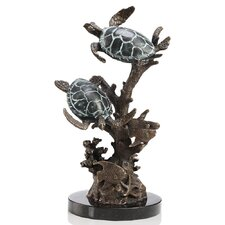 Turtle Duet with Sealife Figurine