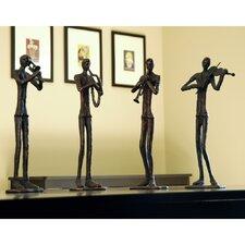 4 Piece Jazzy Quartet Figurine Set