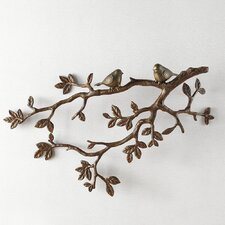 Decorative Little Lovebirds on Branch Wall Decor