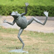 Dancing Frog Spitter Statue