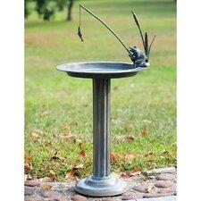Fishing Frog Sundial/Birdbath