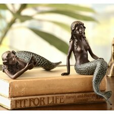 Mermaid 2 Piece Shelf Sitters Figurine Set