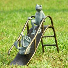 Sliding Frogs Garden Statue