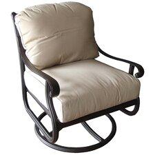 Sasha Club Swivel Rocker Chair with Cushion