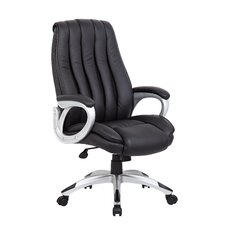 High-Back Executive Chair with Mesh Inserts