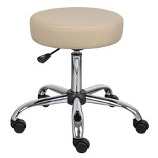 Height Adjustable Doctor's Stool with Dual Wheel