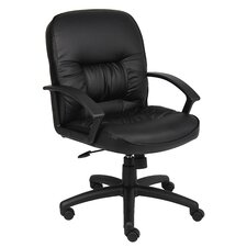 Mid-Back Leather Ergonomic Conference Chair