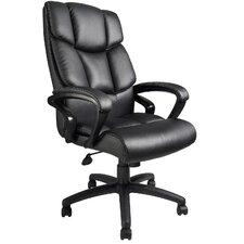 Adjustable High-Back Leather Executive Chair