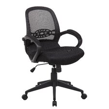 Mid-Back Spider Mesh Chair with Arms
