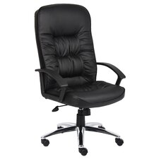 High Back Leatherplus Executive Chair with Arms