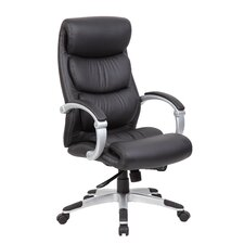 Caressoft Plus Adjustable High-Back Office Chair with Hinged Arms