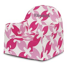 Little Reader Pink Leaves Kids Chair