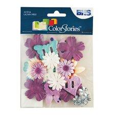 Colorstories Paper Potpourri Flower (Set of 88)