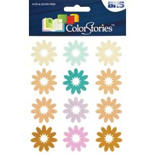 Colorstories Flocked Daisy Stickers (Set of 36)