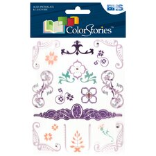 Colorstories Jeweled Rub Ons (Set of 57)