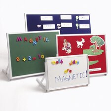 Language Easel Magnetic Free Standing Chalkboard, 1' x 2'