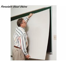 Self-Adhesive Skins Wall Mounted Whiteboard, 4' x 8'