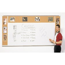 Combo-Rite Porcelain/Cork Modular Type H Combination Magnetic Bulletin Board
