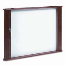 Best-Rite® Tambour Door Enclose Wall Mounted Whiteboard, 3' x 4'