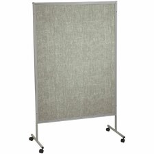 Portable Art SIlver Hook and Loop Mobile Free Standing Bulletin Board, 7' x 4'