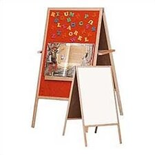 Flannel Easel Magnetic Free Standing Chalkboard, 4' x 2'