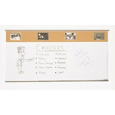 Combo-Rite Porcelain/Cork Modular Type C Combination Magnetic Bulletin Board