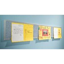 Tackboard Display Pacific Blue Panel Wall Mounted Bulletin Board