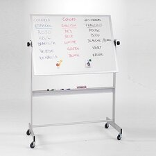 Deluxe Porcelain/Cork Reversible Combination Bulletin Board