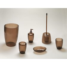 Brown Ribbed Acrylic Bath Accessories Collection