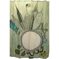 Funky City Shower Curtain