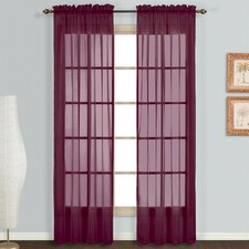 Monte Carlo Voile Rod Pocket Curtain Panels (Set of 2)