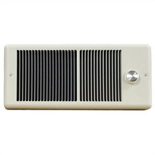 Low Profile Wall Insert Electric Fan Heater with Wall Box and Double Pole Thermostat