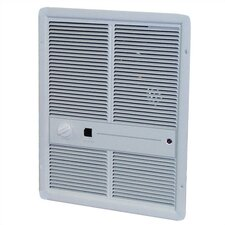Double Pole 16,380 BTU Wall Insert Electric Fan Heater Heater with Thermostat