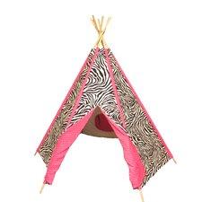 Hot Pink Zebra TeePee