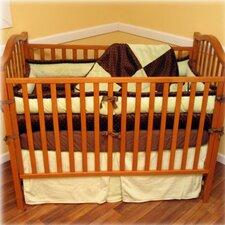 Chocolate Mint 4 Piece Crib Bedding Set