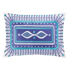 Jennifer Paganelli Embroidered Lumbar Pillow