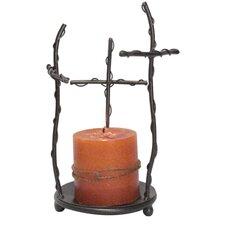 Decorative 3 Cross Candleholder
