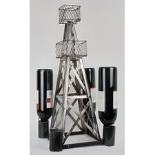 Handmade Oil Derrick 1 Bottle Tabletop Wine Rack