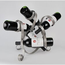 5 Bottle Tabletop Sculpture Wine Rack