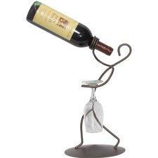 Iron Borracho Stem 1 Bottle Tabletop Wine Rack