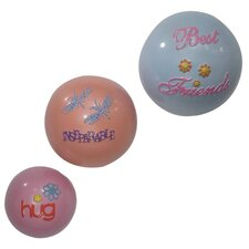 3 Piece Girly Chic Inspirational Wall Bubbles 3D Wall Décor