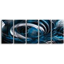Whirlpool Mistery' 5 Piece Original Painting Plaque Set