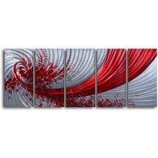 'Razor Wind' 5 Piece Original Painting Plaque Set