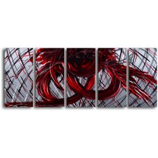 'Eternal Heart' 5 Piece Original Painting Plaque Set