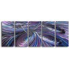 'Tripple Cyclone' 5 Piece Original Painting Plaque Set