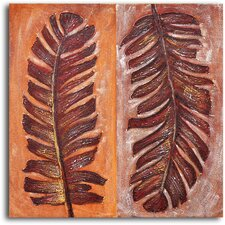 'Frondship' Original Painting on Wrapped Canvas