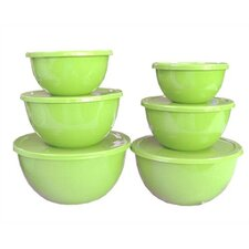 Calypso Basics 12 Piece Bowl Set in Lime