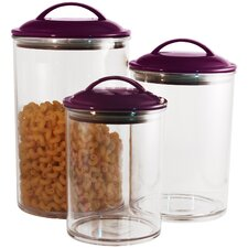3 Piece Acrylic Canister Set